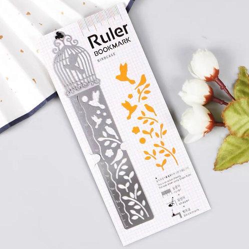 Ruler bookmark - orange 2
