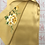 Thumbnail: Double sided silk embroidery scarf - peony yellow