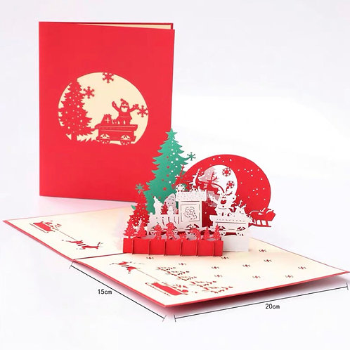 Christmas pop up card - happy celebration