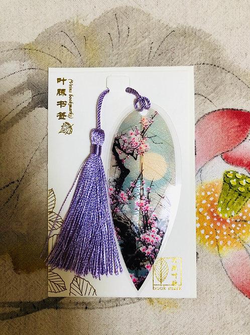 Leaf bookmark Night style 2