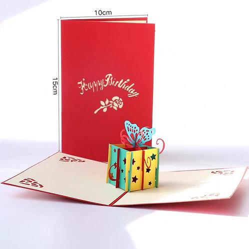 Birthday gift box card