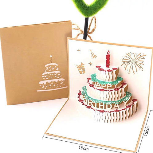 Birthday card(gold cover)