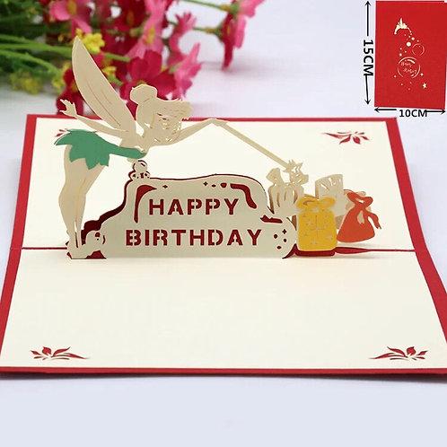 Fairy lady birthday pop up cards