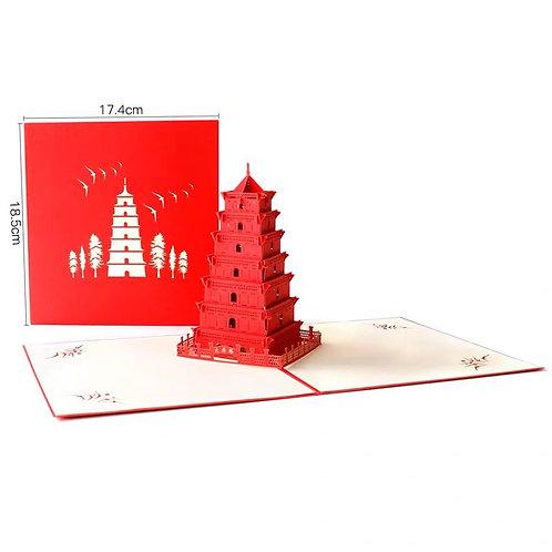 Pagoda Pop up card