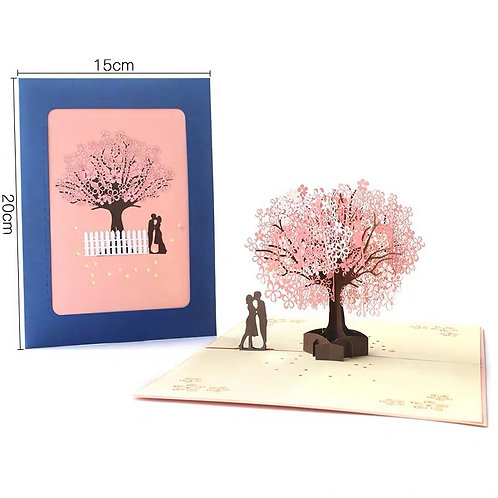 Cherry Blossom card with a couple image