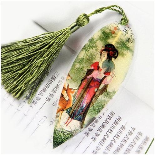 Leaf bookmark Oriental Lady