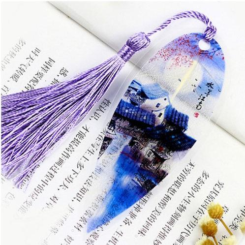 Leaf bookmark purple view