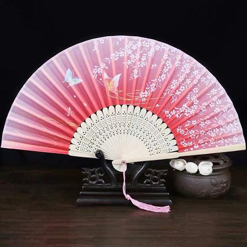 Elegant Fan - Orange-ish pink