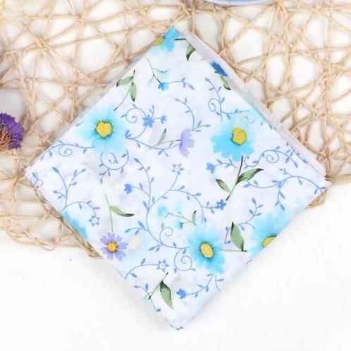 Cotton Handkerchief (Blue daisy)