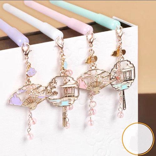 Pen with oriental pendant 4 designs