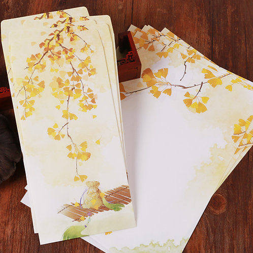 1 Envelope Yellow with 2 matching paper