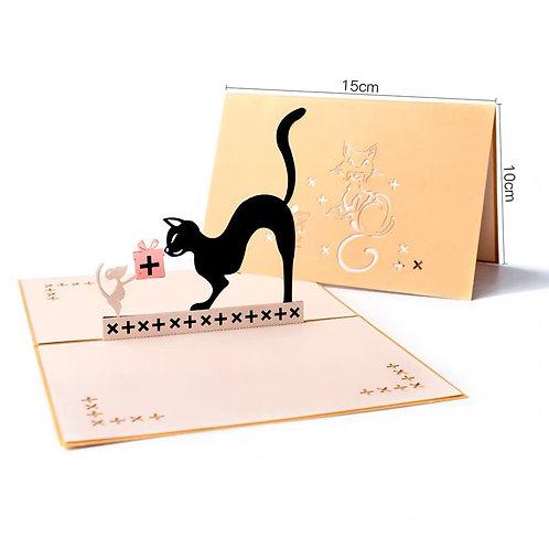 Cat & Mouse Pop up Card