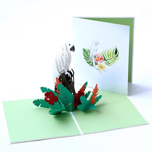 Parrot pop up card