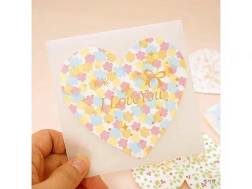 I love you card - heart shape