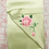 Thumbnail: Double sided silk embroidery scarf - rose green