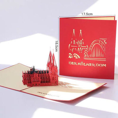 Cologne Cathedral Pop up card