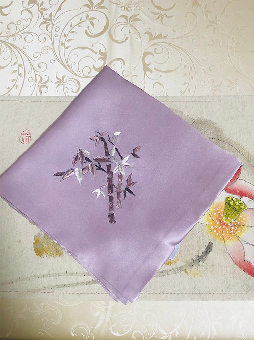 Silk embroidery handkerchief (bamboo)