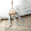 Thumbnail: Dream catcher key ring grey