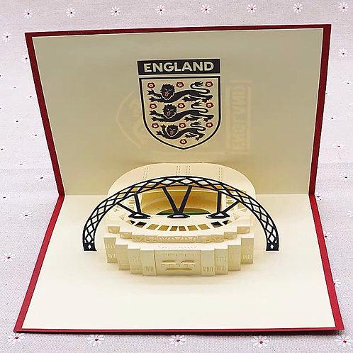 England football team pop up card