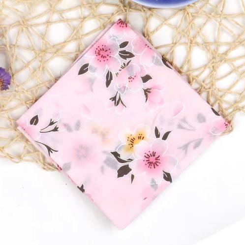 Cotton Handkerchief (Pink cherry blossom )