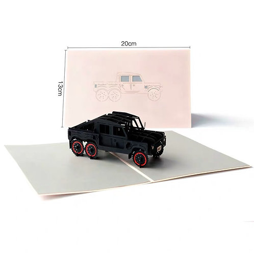 3D car automobile pop up card