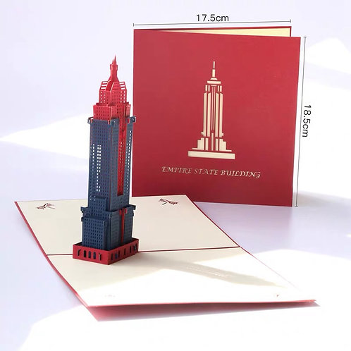 Empire State Building Pop up card