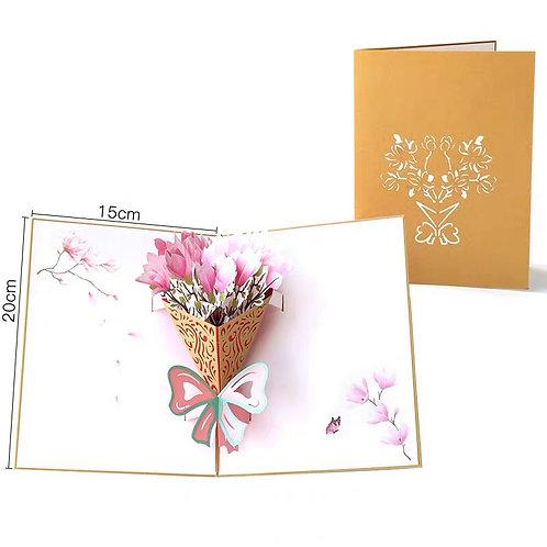 Magnolia pop up card