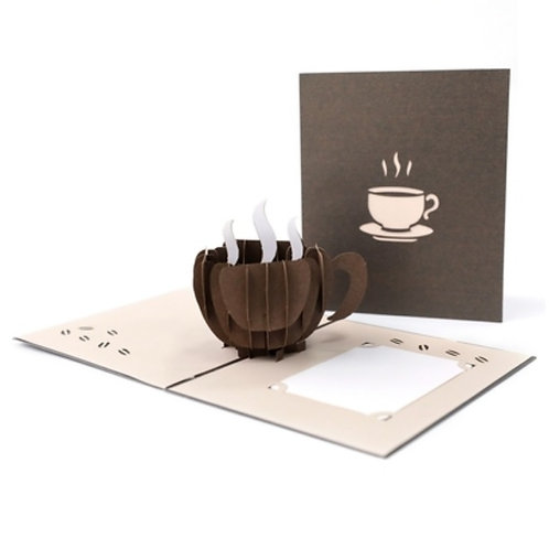 Cup of coffee/tea pop up card