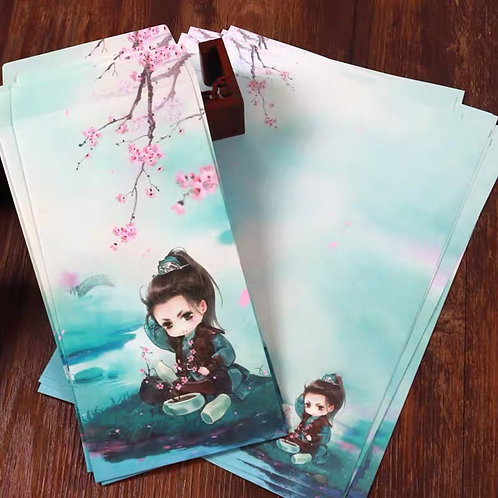 1 Envelope Kid with 2 matching paper