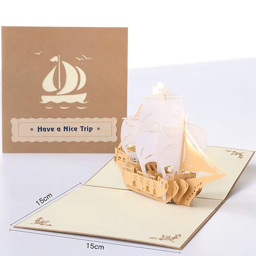 Have a nice trip pop up card