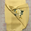 Thumbnail: Double sided silk embroidery scarf - peony butterfly yellow
