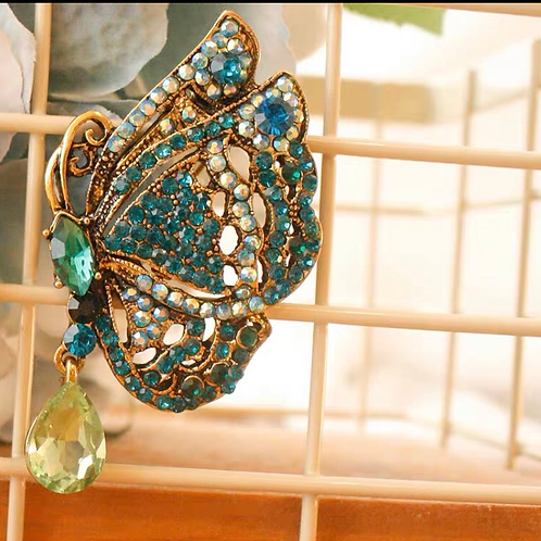 Brooch - Turquoise butterfly
