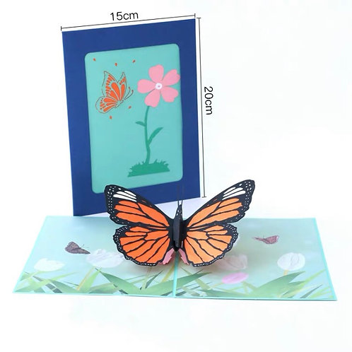 Big butterfly pop up card style 2