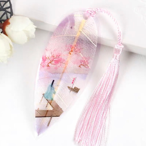 Leaf bookmark Pink dream