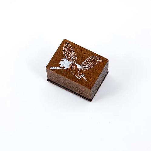Oriental Wood Rubber stamp - Crane