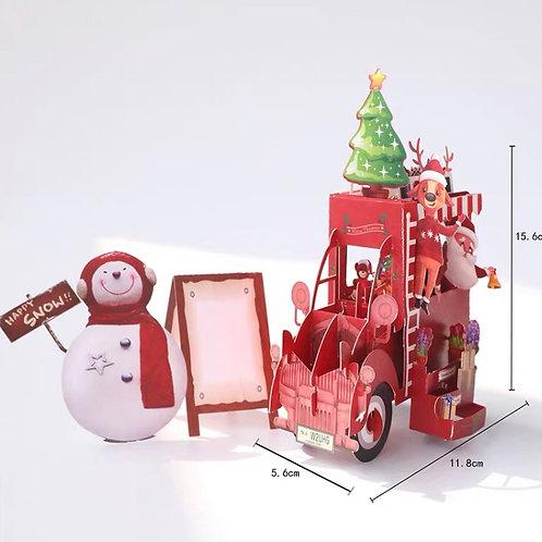 Christmas car pop up card