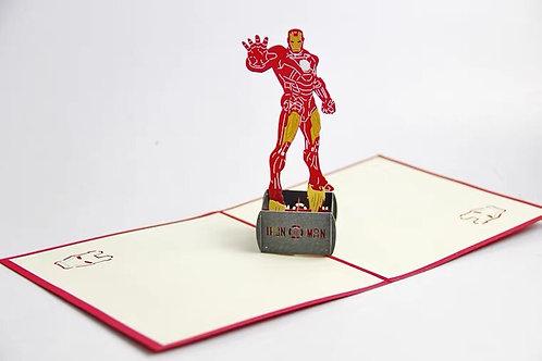 Iron Man pop up card