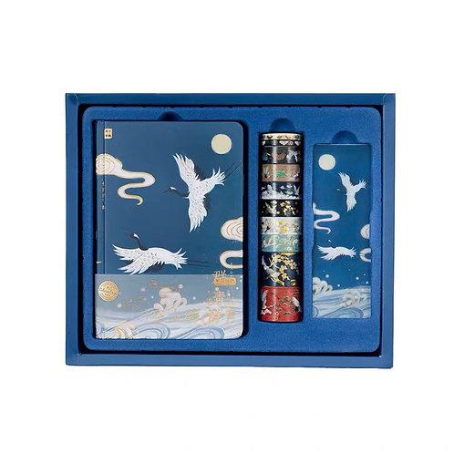 C&C Washi tape with notebook set - Blue
