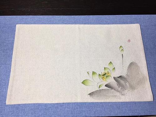 Hand painted tea mat