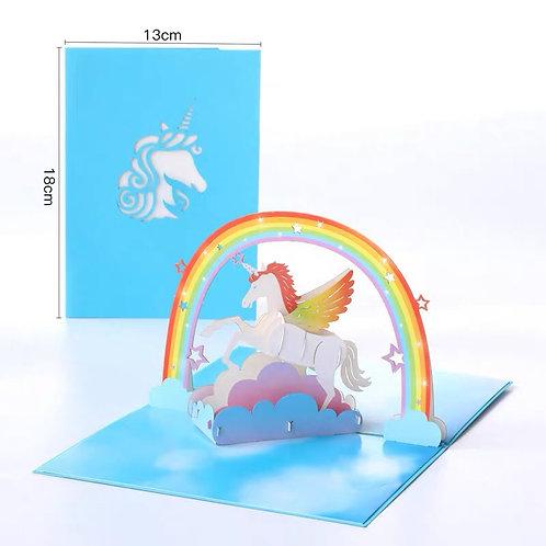 Unicorn pop up card