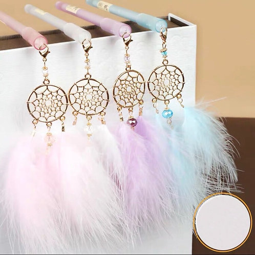Pen with dream catcher pendant 4 designs