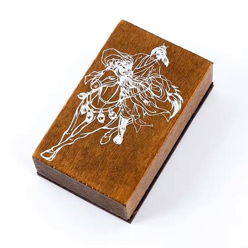 Oriental Wood Rubber Stamp - Horse