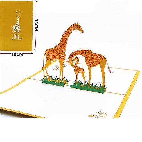 Giraffe pop up cards
