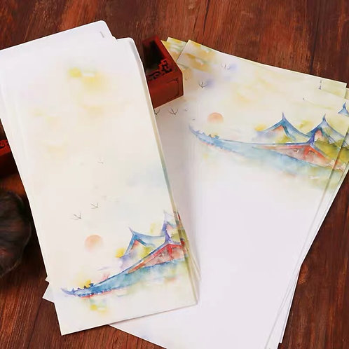 1 Envelope Pagoda with 2 matching paper
