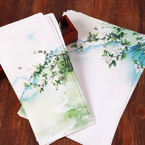 1 Envelope White with 2 matching paper