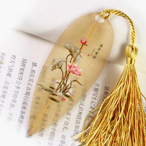 Leaf bookmark Lotus flower style 4