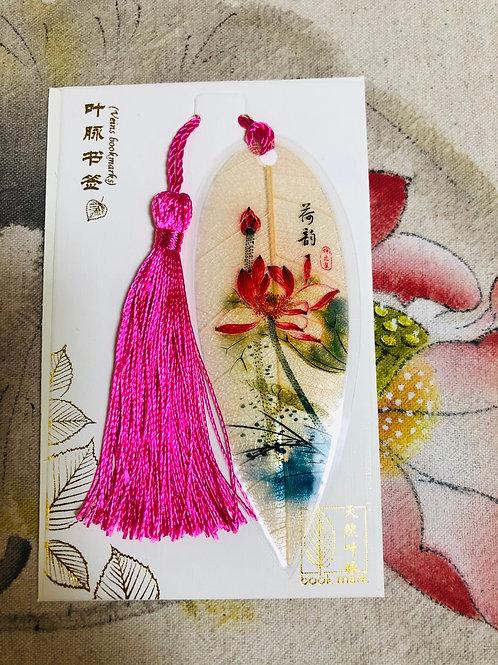 Leaf bookmark Lotus flower style 6