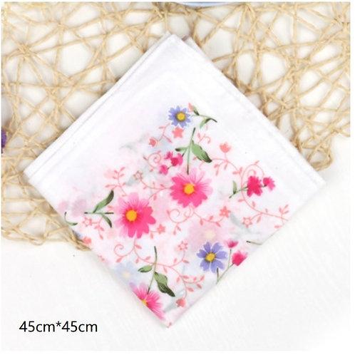 Cotton Handkerchief(Pink Daisy)