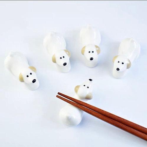 Dog chopsticks rests & holder
