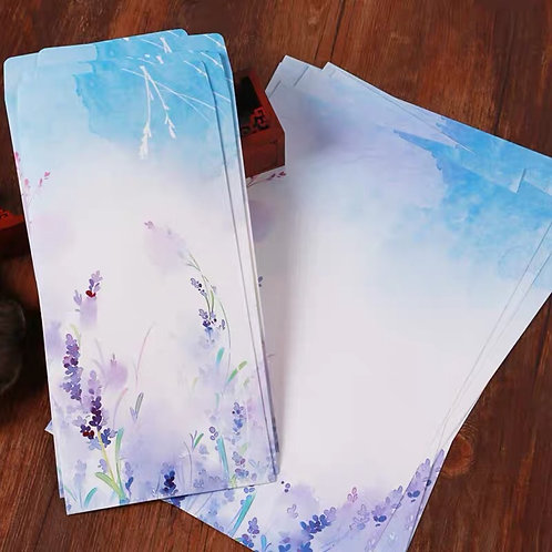 1 Envelope Lavender with 2 matching paper